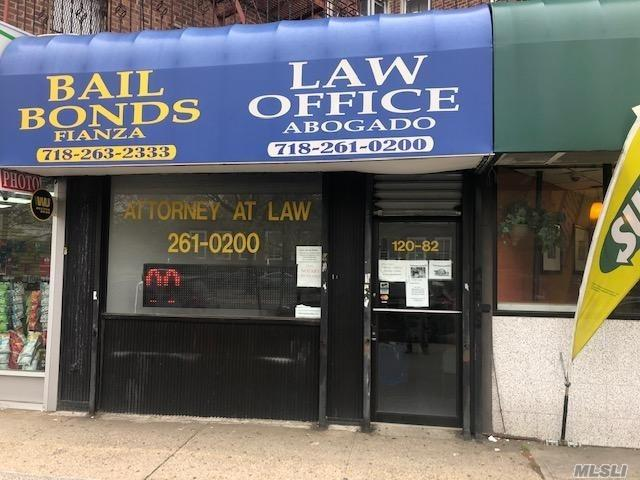 OFFICE/OR RETAIL USE CONDO IN PRIME KEW GARDENS ACROSS FROM COURTS, HI TRAFFIC QUEENS BLVD AREA