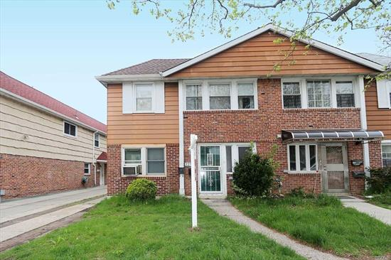 Great Semi-Detached, 2 Family House. House features a large (1050 sq feet) 2 Bed, 1 Bath apt w/ EIK, LR & DR Combo, w/ pvt side ent on 1st fl. 2nd fl has 3 Bed/ 2 Bath, apt, with LG Liv Rm, L-Shape Din Rm, EIK. HW Fls througout. W & D, (2nd fl use), CAC (2nd Fl). Deep yard 29.5 x 129 ( with room for buildable additiona sq footage). Great Location, Near Major Highways, and public transportation. Great Income producing property. Great School District (#26)