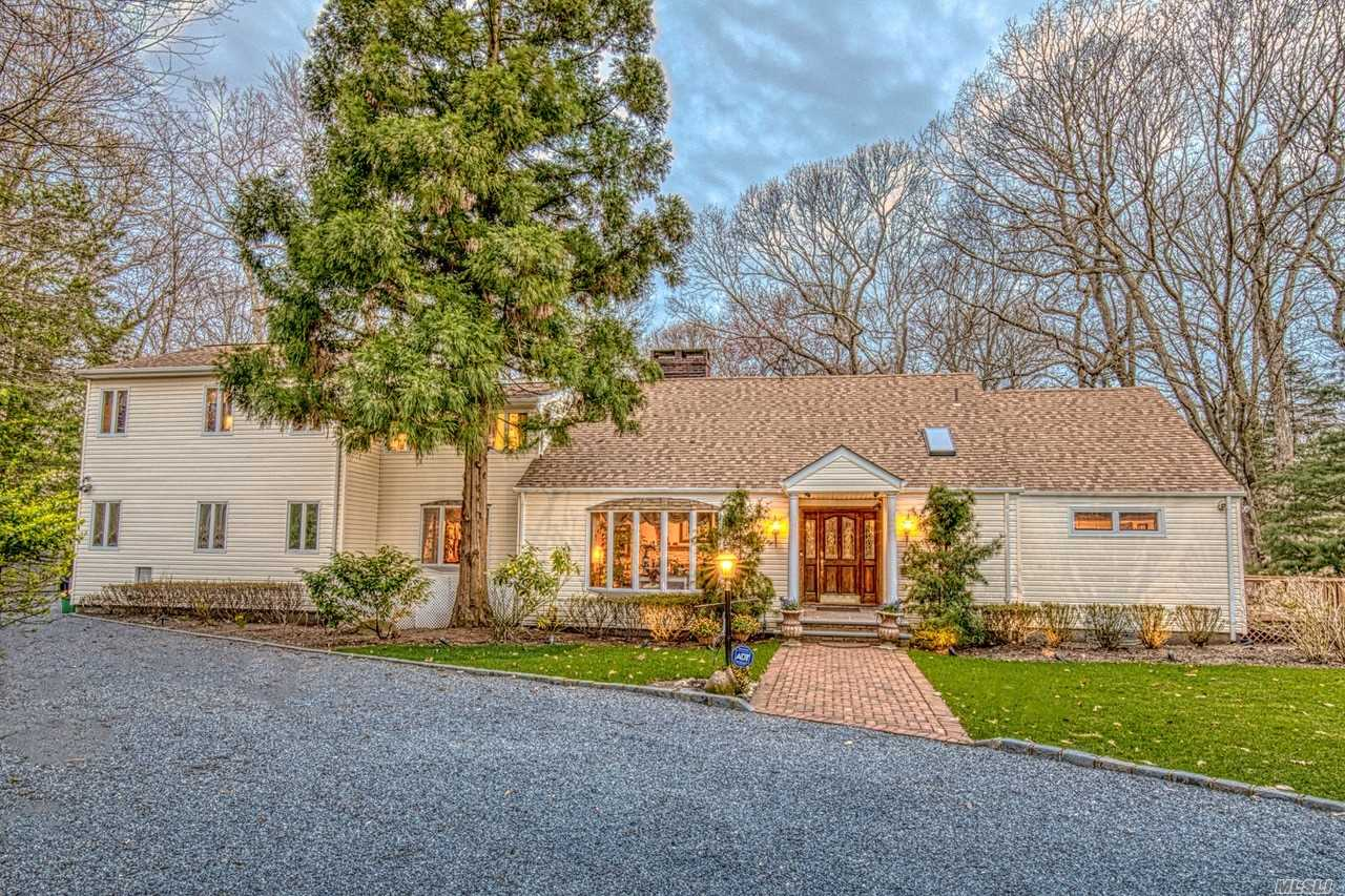 Location, Location Sits This Beautiful 5BR, 4 Full & 3 Half Bth Farm Ranch w/Sun Filled Great Rm w/Woodburning Stove, EIK w/SS Appls, FLR w/Stone Fplc & Vaulted Ceiling, 1st Flr Mstr Suite w/Mstr Bth w/Jacuzzi, WIC, & Private Deck, HW Flrs, Hi Hats, Updated Boderus Burner & CAC, CVAC, Andersen & Pella Wndws, Smart Home, All Located on Shy 2 Acres w/Semi-IGP, Large Deck, LED Landscape Lighting, BOSE Speakers, & Fire Pit, Great for Entertaining! Legal Mother/Daughter w/Pvt Entrance, A Must See!
