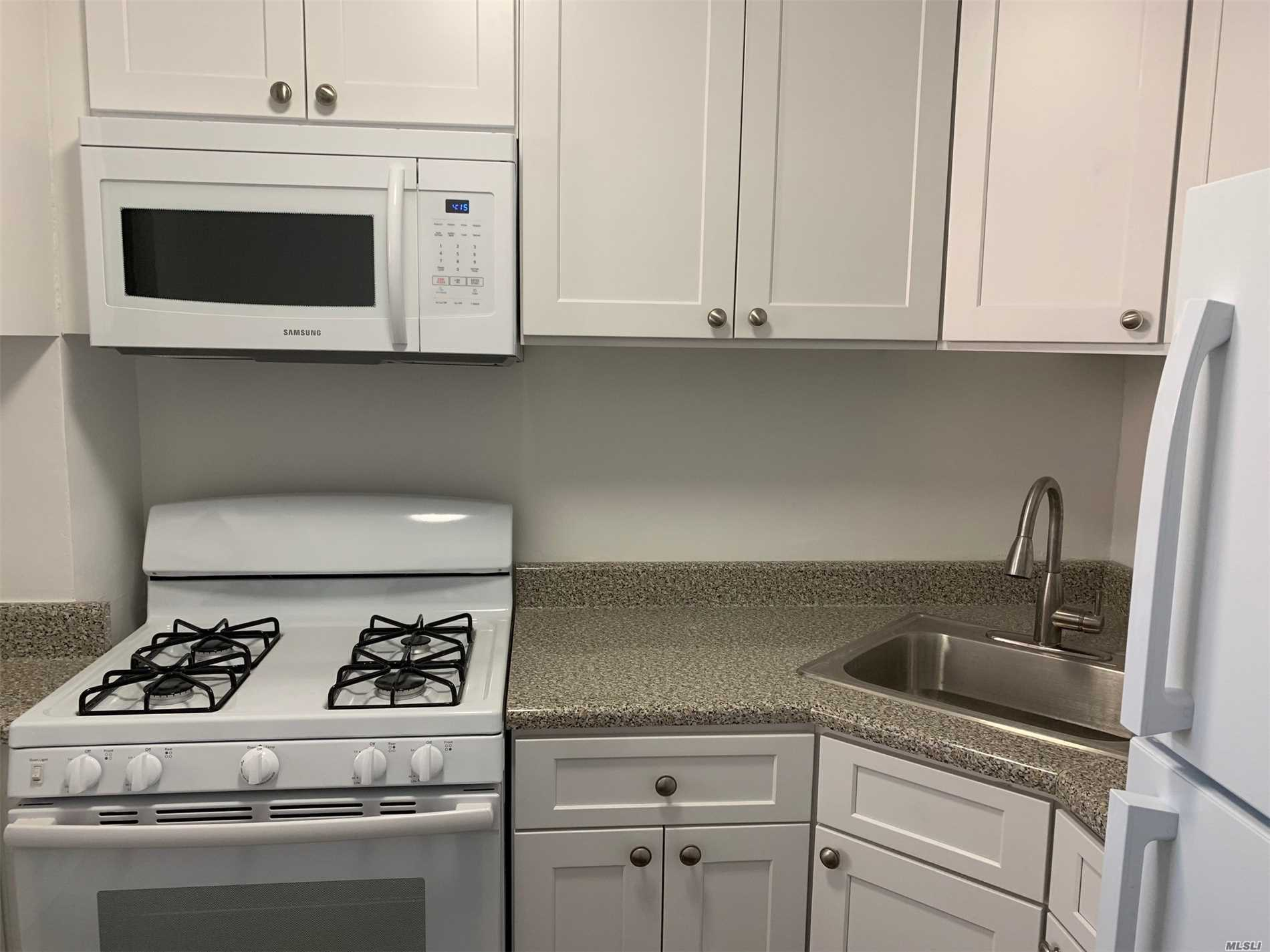 Lg One Br with New Kitchen Cabinets & Appliances..New W/W Ceramics Bath, Vanity & Mirrors, New Floors In Lg 1Br & 1Bath At The Prestige Coop Complex Of Park City Estates. 24 Hr Security Gate And 16 Hr Doorman W Terrace. Tanant Must Get The Board Approval With Credit Score Over 700 And Proven Income Over $70, 000. Hurry Up Will Not Last.