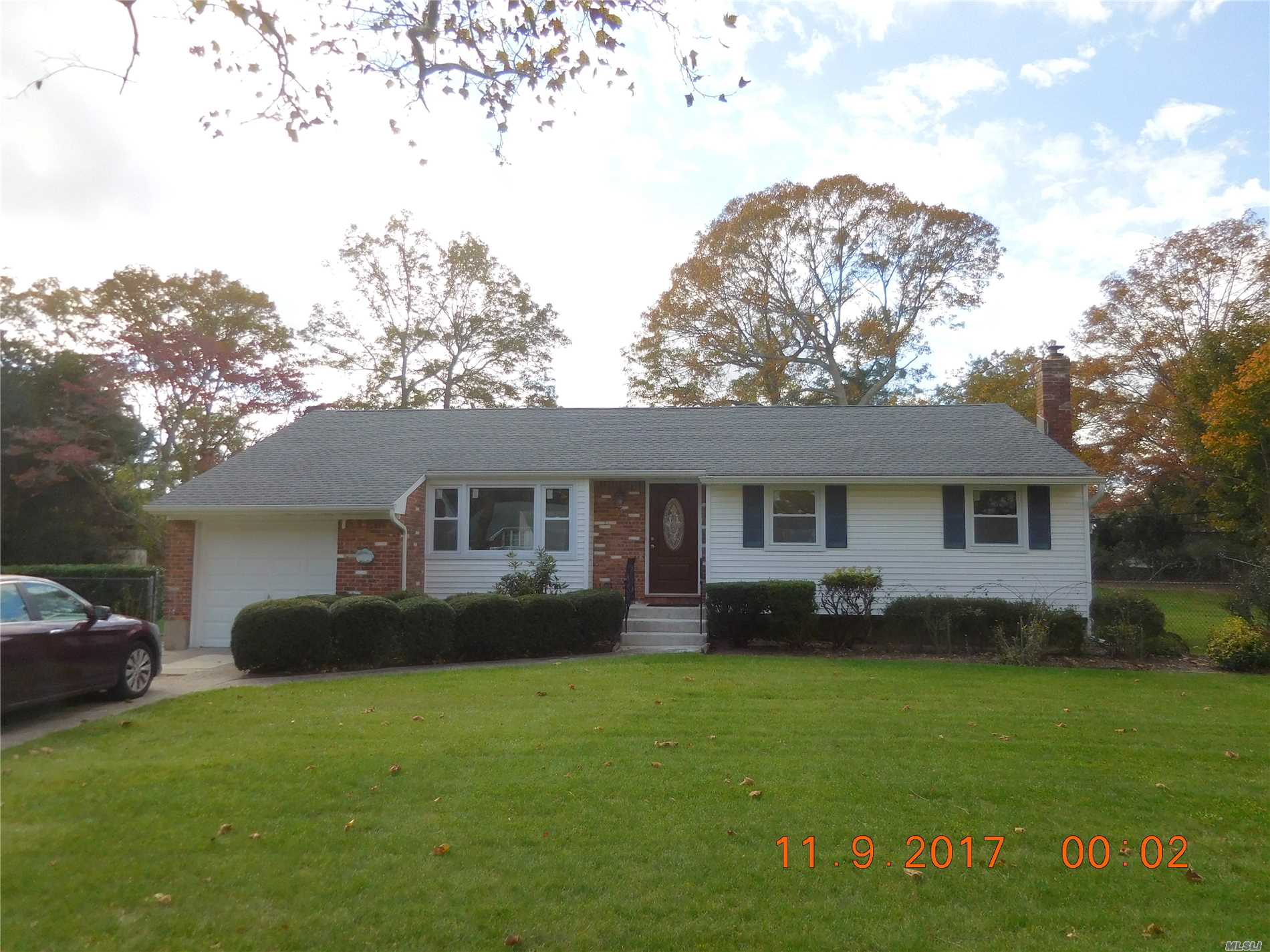 Pristine Home In Town Of Smithtown. Completely Renovated. New Everything. Brand New Kitch, Bathrm, Ss Appl, Cabinets, Granite Cntrtops, Fixtures, Washer, Dryer, Windows, Doors, Lighting. New Floors. Access From Garage To House. Large Backyard And Patio With Awning. Full Basement, Cac, Gas Heat. Smithtown Schools. Close To Everything. Available July 1, 2019.