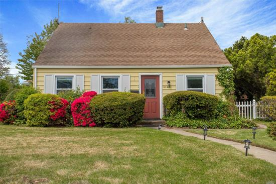 Move Right Into This Charming Cape In Levittown! Updated Eat-In-Kitchen. Living Room/Dining Room. 4 Bedrooms Total W/ Laminate Floors. First Floor Master Bedroom. 1 Updated Full Bath. Private Driveway. Laundry Second Floor. Private Fenced In Yard With Wooden Deck. Move In Ready!! Low Taxes!!