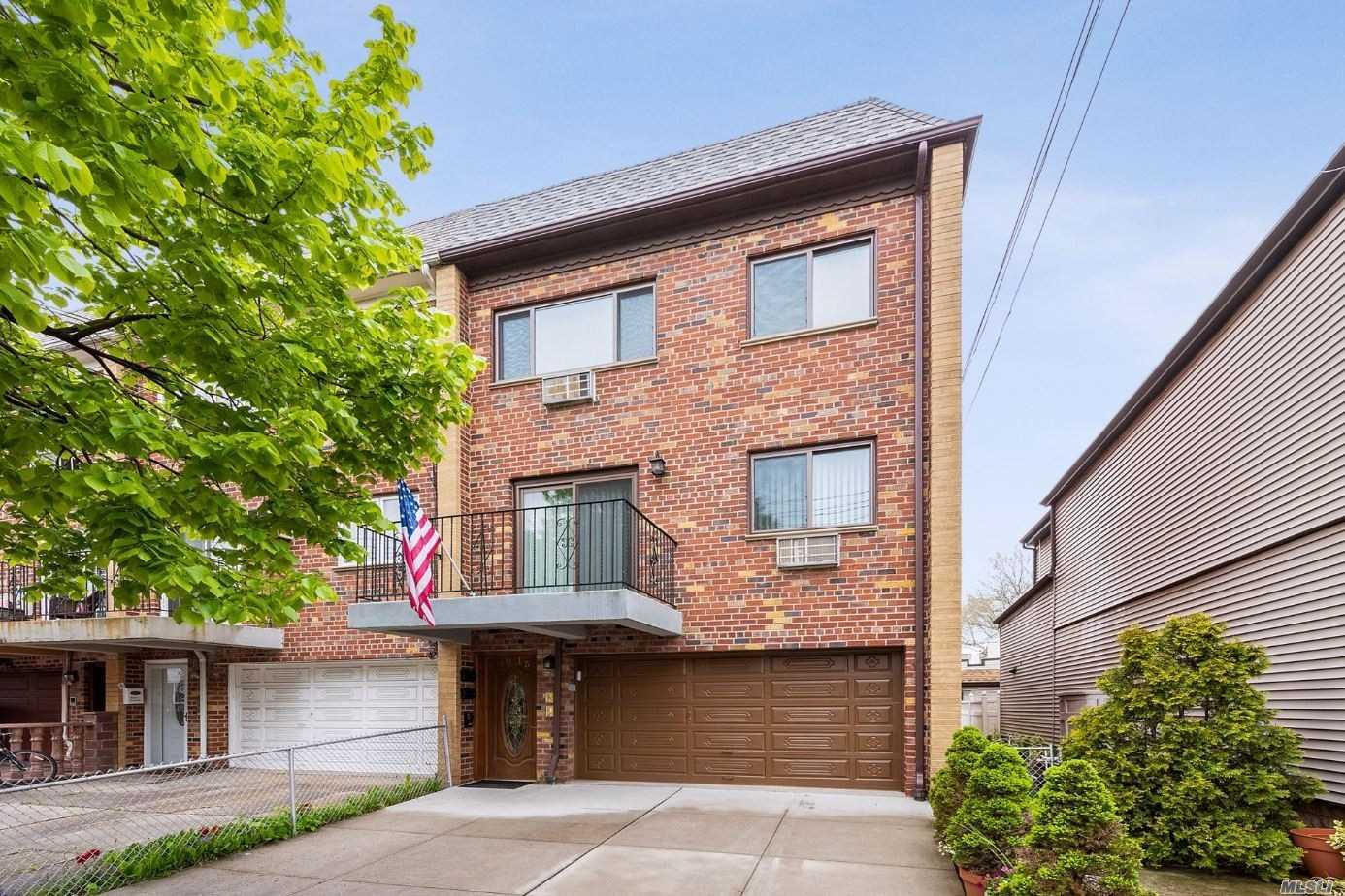 Fantastic Investment! This rare solid brick large semi-detached property features 6 rms, 3 bdrms + 1 full bth on 3rd fl, 6 rms, 3 bdrms + 1 full bth on 2nd fl w/ terrace, 3 rms on 1st fl plus a full finished basement, private yard & private driveway & garage in front....