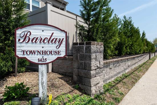 Located in the sought after Barclay Townhouses ll complex, this ready to move into sun- filled 3 bedroom, 2.5 bath home,  features an open concept floor plan and generous size rooms. Lr/dr opens to an spacious deck & updated eat in kitchen with stainless appliances,  A master bedroom en-suite, and 2 bedrooms and full bath on 2nd floor.. Many quality features include, custom closets, crown moldings, CAC, sky lights and much sought after attached garage, full basement with laundry and storage.