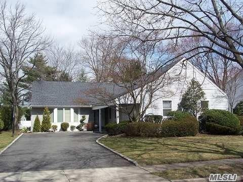 A GOLDEN opportunity to live in Woodbury Knolls/Syosset SD. This Farm Ranch has a great layout and sits on great property. With some updating this home will SHINE! There are 3 floors of living space.Taxes are being grieved, This home is surprisingly larger than you think. Don't just wind shield it! A Golden surprise awaits!
