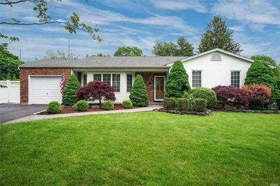 Spectacular redone Ranch on a flat 1/2 + acre with full finished basement! Room for pool! Gleaming Hardwood flooring, updated kitchen with new appliances ( Nov. 2018), new HW Heater ( 5 months), Brick patio in backyard, den with wood burning fireplace , master with bath. One level living at its best!!