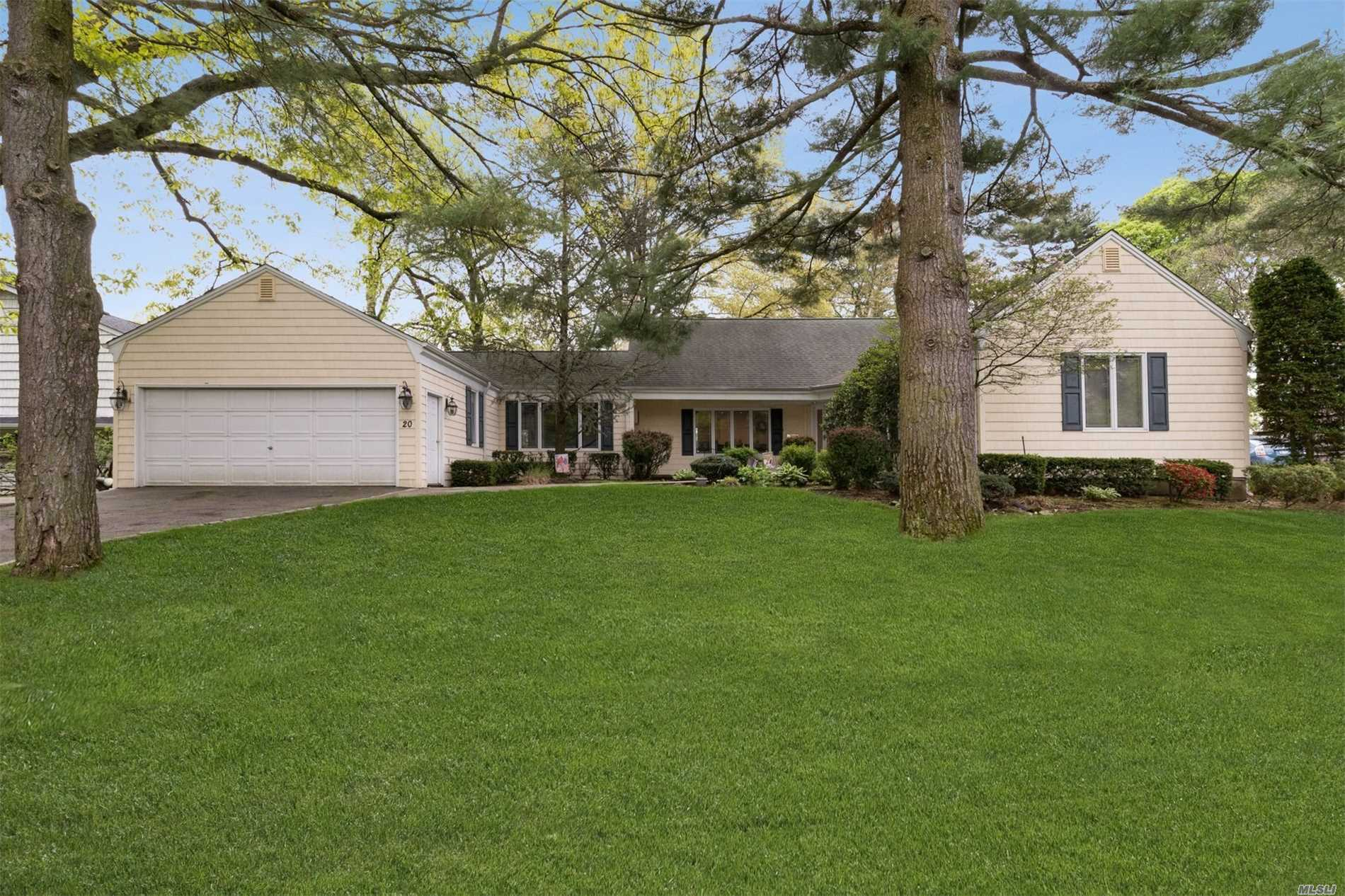Spacious 4 Bedroom, 4 Full Bath Farm Ranch Set On Almost 1/2 Acre Beautifully Landscaped Property, Features 2 Master Suites On 1st Floor, Large Living Room W/Fireplace, Dining Room, Bright Kitchen W/Breakfast Area, Large Family Room W/Sliding Doors To One Of A Kind Property. Two Additional Bedrooms On 2nd Floor. Location, Location, Location.