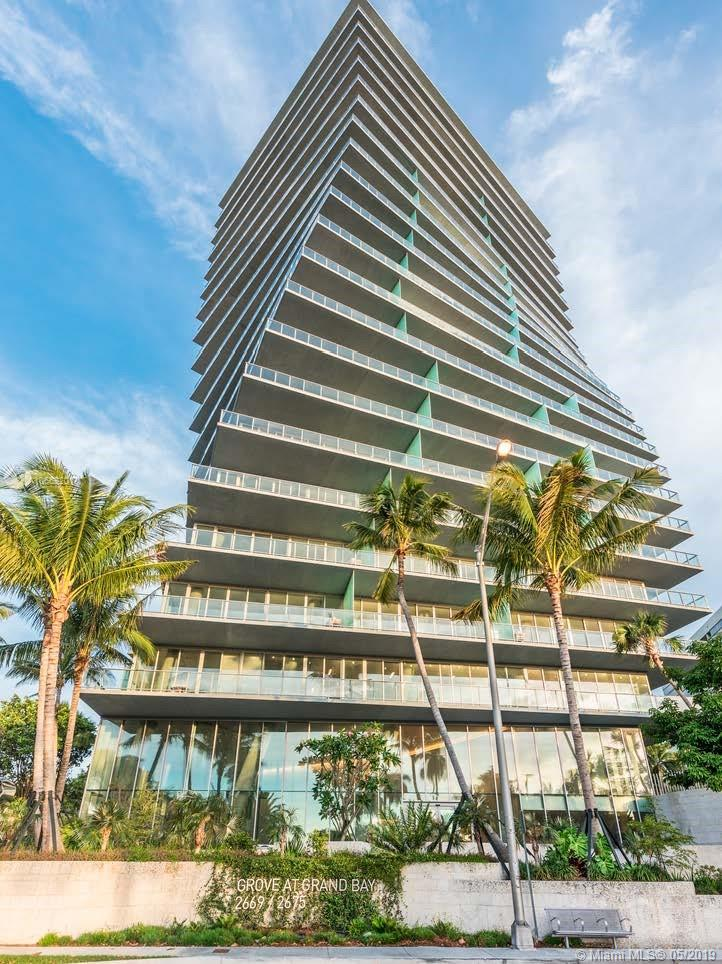 Incredible Opportunity To Buy One Of The Last Unfinished Units In The North Tower Of The Grove At Grand Bay And Make It Your Own. Unit Includes Private 2 Car Garage. This Decorator Ready Unit Features An Open Floor Plan With Breathtaking Views Of The City And The Ocean. The Buildings Amenities Include 24-Butler Service, Concierge Staff, Complimentary Valet For Guest, Gym, Spa, Two Pools, And So Much More.