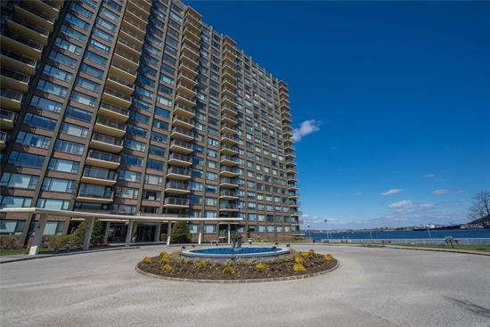 Beautiful 3 bedroom/2 bathroom converted to 2 bedrooms. Can easily be converted back to 3 bedrooms. This unit is waterfront and has panoramic water and bridge views. The apartment features a waterfront terrace and wood floors throughout. Extra large rooms with renovated kitchen and baths.