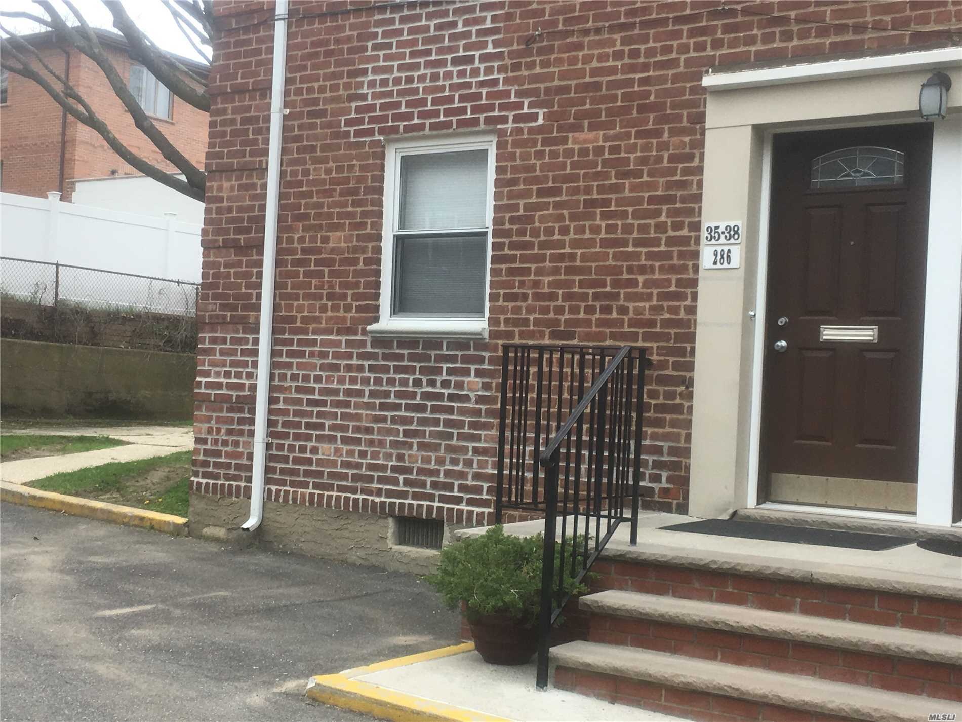 Renovated Stainless Steel Appliance Kitchen Open Layout with Living/Dining Room! Low maintenance. Corner Bright Separate Entrance Upper 1-Bedroom Co-op! Convenient Shopping, Restaurants, Supermarket,  LIRR! Bus to Subway, Flushing and More! Clearview Expressway! No Flip Tax!