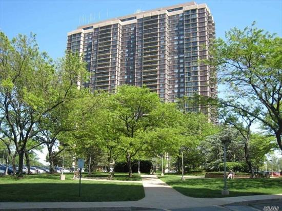 MAGNIFICENT GOLF COURSE AND UNOBSTRUCTED DRAMATIC CITY SKYLINE AND SUNSET VIEWS! Elegant entrance foyer opens to gracious FDR and oversized LR for great entertaining, both with floor to ceiling sliding glass doors with large walk-out Terrace and Balcony. Beautifully reno State of the Art gourmet EIK with additional cabinets and windowed dinette area. Separate laundry. Second BR / office/ DEN with private bath, stall shower and Balcony overlooking lush golf views! Expansive MBR suite.