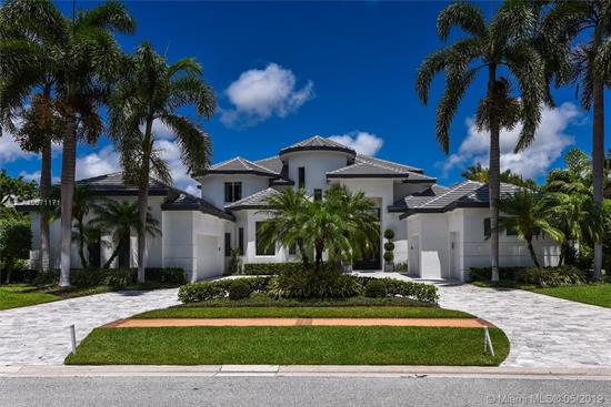 Dream House! Turn Key, Full Remodeled In 2018. Fully Furnished By Interior Design Steven G. Clean, Sleek Interior Showcase Window Walls Of Glass Overlooking Panoramic Lake And Golf Course Views In This Impressive 6 Bedroom, 7.2 Bath Estate. Totally Renovated In 2018 With Elegant Entertaining Spaces Feature A Stunning Living Room With Custom Fireplace With Marble Wall, Bar And Dramatic Staircase, Formal Dining Room, Gourmet Kitchen And Expansive Family Room. Quality And Attention To Detail Is Evident With Top Of The Line Appliances And Fittings Throughout. A Grand Master Suite Offers A Private Sitting Room, Luxurious Marble His And Her Baths And Generous Wardrobes.