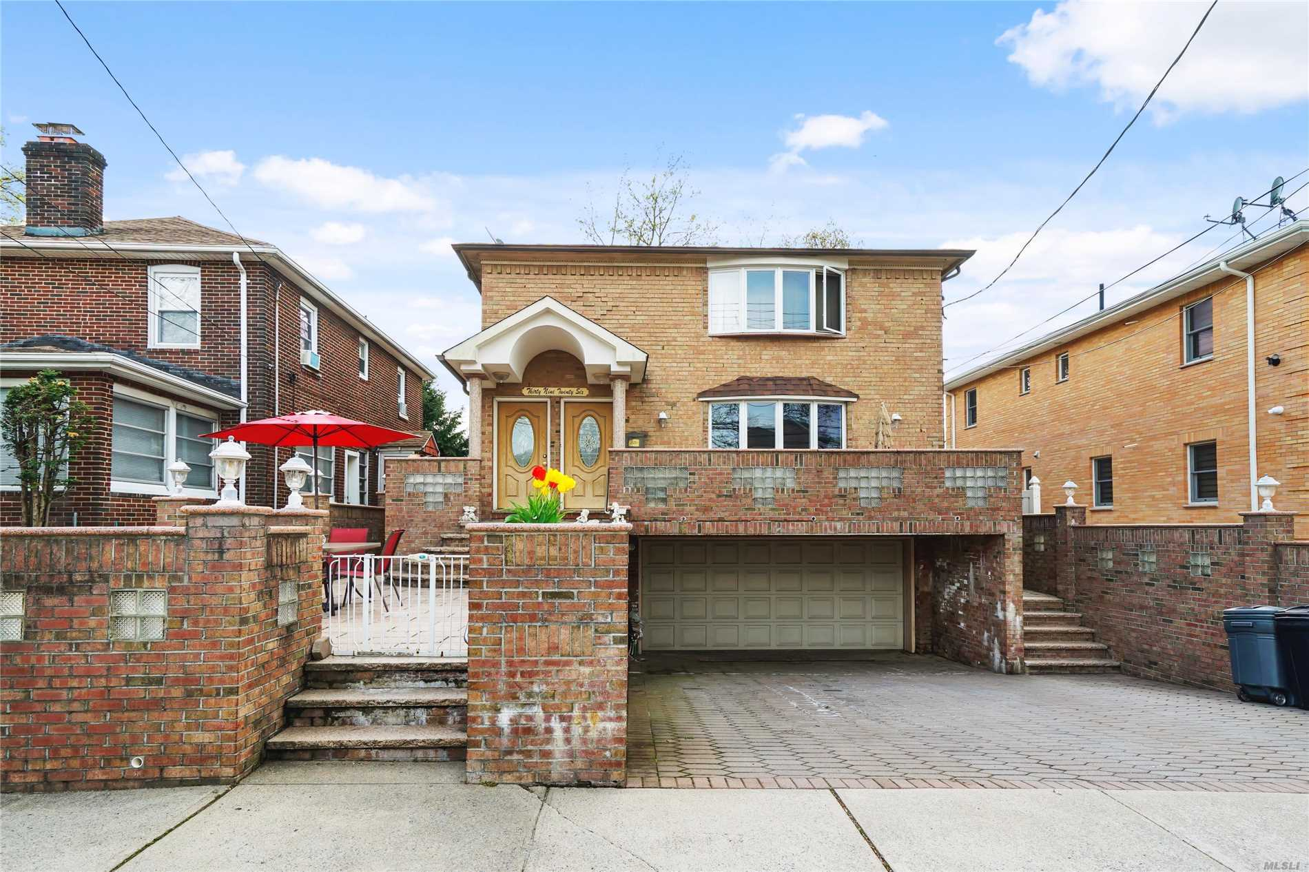 Come See This Large, Beautifully Maintained Brick 2 Family Home In The Heart Of Bayside! This 5 Bedroom, 4.5 Bath House Has A Finished Walk In Basement ... 2 Bedroom, 1.5 Bath Over 3 Bedroom, 2 Bath ... Large Backyard With Pool ... Close To LIRR ... Fantastic Schools ... Call For More Details ...