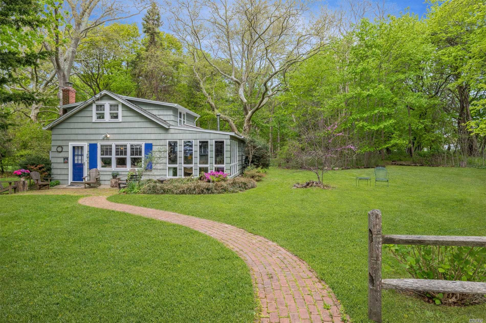 North Fork charming cottage across from the Peconic Bay. Open concept floor plan with lovely waterviews of Peconic Bay. Lovingly maintained, this 3 BR home has many new upgrades including Central Air and irrigation. The Private Deeded beach is merely a stone's throw away! Situated on private setting surrounded by The Bay, Farmland and woods. Just bring your Kayak! See Virutal Tour!!