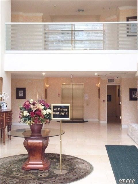 An Elegant Luxury Unit In Sterling Plaza, Great Neck's Premiere Condominium Building. A Spacious 2 Bedroom Apartment With 2.5 Baths. 1 Car Garage Is Included In The Rent As Well As The Monthly Maintenance. Hardwood Floors, Combo Kitchen, With Patio, & Individual Thermostat. Features 24 Hr Doorman, Fitness Center, And Community Room. No Pets Allowed. Short Term Rental Accepted.