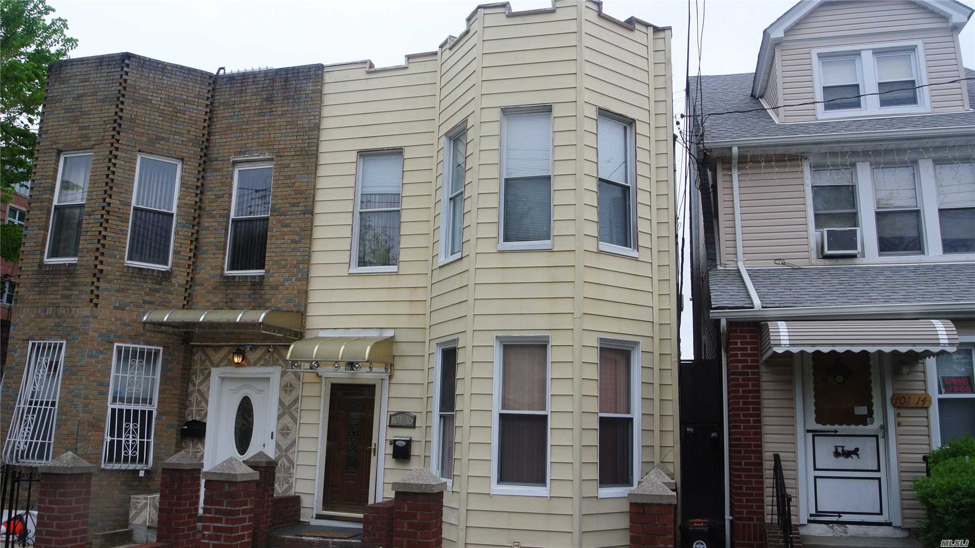 Two Family Frame Colonial in Excellent condition. First Floor Kitchen is extra large, contemporary with a comfortable Dining Area. Located with-in walking distance to Shops, Train, Q-10 Bus to JFK Airport and Manhattan. Owner very motivated to sell. Call For Appointments. To be delivered Fully Vacant.