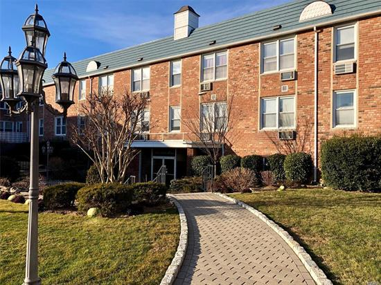 LOVELY UNIT FEATURING LARGE LR/DR AREA, EFF KITCHEN W/UPDATED CABINETS, LARGE BEDROOM W/WALK-IN CLOSET AND ACCESS TO TERRACE, WOOD FLOORS UNDER CARPETING, BATHROOM W/WALK-IN SHOWER, LOTS OF CLOSET SPACE. THIS IMMACULATE BUILDING HAS AN ELEVATOR, LOBBY, LAUNDRY ROOM, OUTDOOR POOL, COVERED PARKING GARAGE, NEWLY UPDATED HALLWAYS.