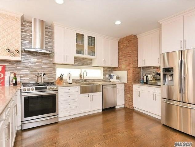 Beautiful 1, 000 Sq Ft Apartment, Fully Renovated 2 Years Ag o, 2 Bedrooms + baby/computer room, full Bathroom, amazing kitchen with top of the line Stainless Steel Appliances. Heat, Cooking Gas, And Hot Water Is Included (Only Pay Electric) Street Parking, additional backyard storage access.