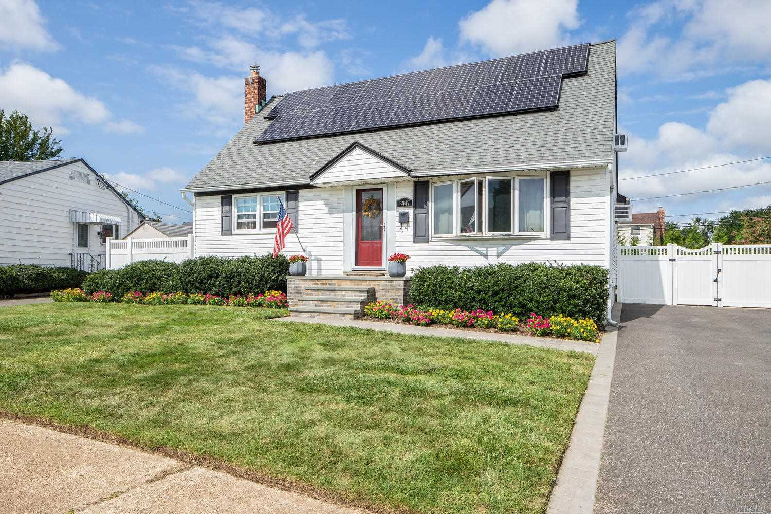 Just in time for the summer! This beautiful 4 BR move in Cape features a brand new heated inground pool. The perfect backyard for relaxation or BBQ's. Updated eat in kitchen, updated bathroom,  formal dining room and full basement. This one will go quick.