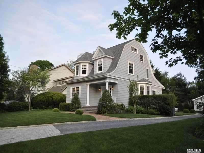 Pristine, Updated Dutch Colonial, Set On .25Ac Manicured Grounds. Fabulous Gourmet Eat-In Kitchen W/ Stainless Steel Appliances, Marble Counter Tops & Radiant Heat. Beautiful Hard Wood Floors & Custom Mill Work. Lr/Fpl, Central Air,  Can be furnished, Partially, or unfurnished. Close To Cold Spring Harbor & Huntington Village Railroad, Eagle Dock Beach Assoc.( Fees Apply).