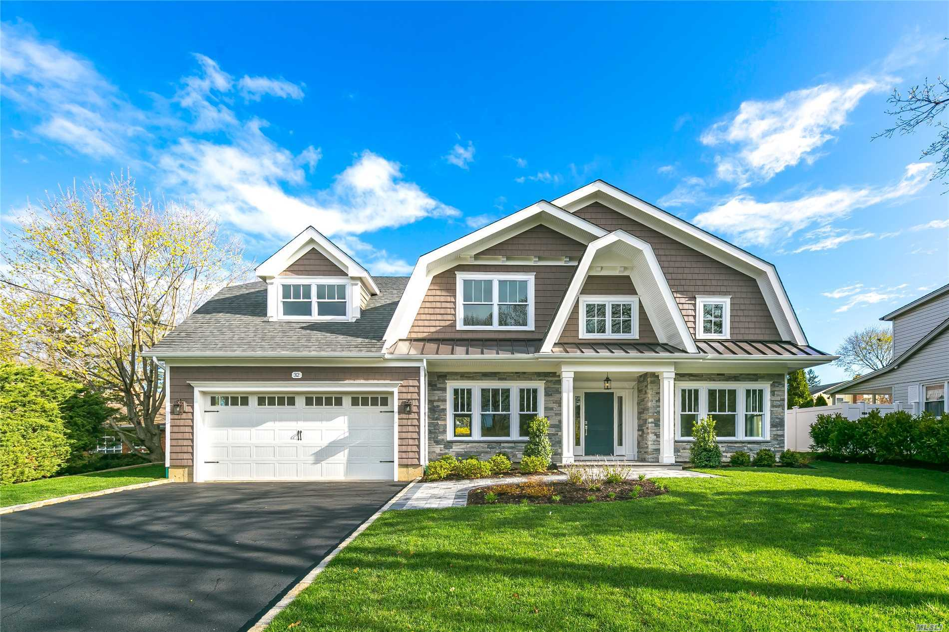 Stunning New 5BR Hampton Colonial in the heart of N.Syosset complete & ready for summer occupancy!Superior Workmanship & Custom Millwork throughout, Massive open floor plan W/Grand Entry, Oversized Kitchen W/Viking appliance package, modern gas fireplace in Great Room, hardwood floors, every closet W/built-ins & new alarm system.Full Finished basement W/full bath & Completely Landscaped property W/new sprinkler system!Room for a pool! Ideally located near shopping, transportation & places of worship.