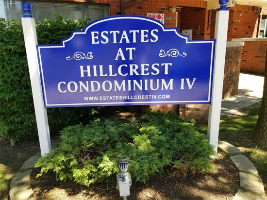 Hillcrest Estates iv Condo. Two bedroom, two bath, living room, dining area, eff. kitchen, washer and dryer in apartment. Basement is for one area of storage and heating system. One parking spot in rear of building included. This apartment is currently rented and need 24 hr notice for showing. Needs up dating. There are 111 units in this condo complex.