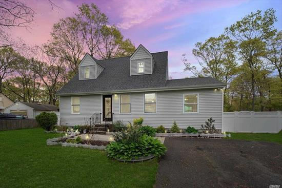 Impeccably presented and move-in ready, this stunning Cape Cod home is priced to sell and won't last long, Having been totally redone just three years ago, you will enjoy the best of modern living.Boasting an open-plan layout, you can flow from one space to another including the sunken living room. Ceiling fans throughout offer complete comfort while a full basement provides flexibility to this impressive home.3 Ductless AC On Main Floor and 12 Zone Sprinklers insure Green lawn.