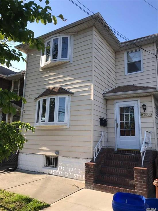 Quite Tree Line Neighborhood , whole house updated 5 years ago , 3 bedrooms apartment over 3 bedrooms apartment , Big back yard deck With exit from first floor,  convenience to highway , stores , supermarket etc.