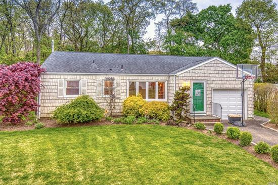 Welcome To This Charming 3 Bedroom & 2 Bathroom Ranch On An Oversized Park-Like Property. Boasting A Den Extension, CAC, Vinyl Siding & Hardwood Floors Throughout. Features An Updated Kitchen With Granite Countertops & Stainless Steel Appliances. Move Right In!!!