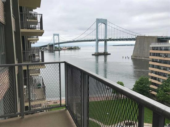 Stunning in the Water and bridge views. X large apartment... Updated Euro kitchen...update bath with stall shower..closets galore Hardwood floors...Move right in
