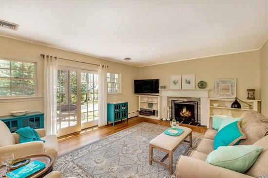 Totally up to date and ready for you to enjoy summer!  Great room with fireplace - combined living room and dining room. Three bedrooms, two new baths, update kitchen, large clean basement for playroom, mancave, gym, etc. Walk to bay boat launch and beach, walk to Southold Yacht Club, walk to Southold hamlet - shopping, public transportation, and dining. Perfect summer getaway or year round living.