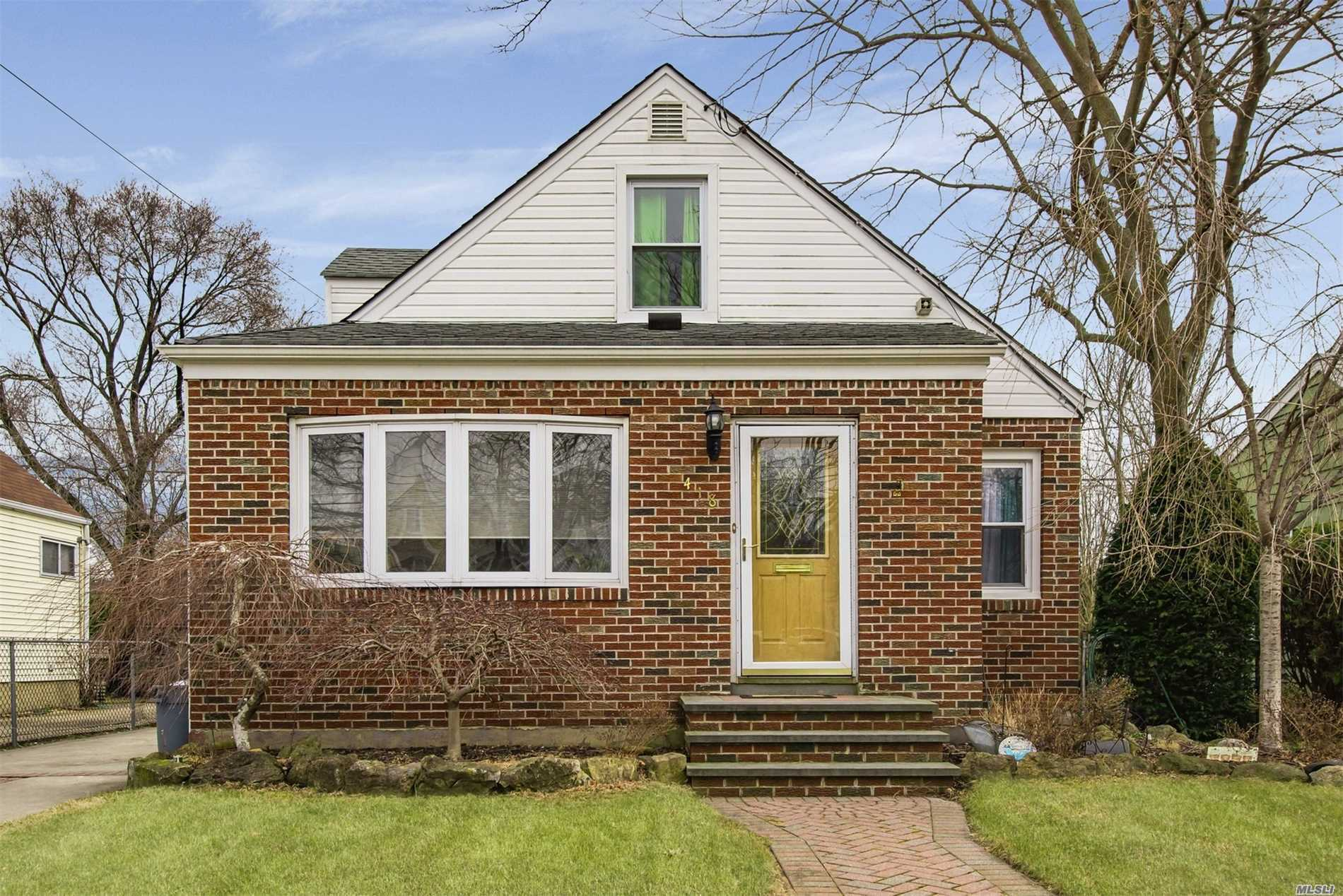 Solid Brick And Vinyl Home 7 Rooms 3 Or 4 Bedrooms 2 Full Baths Wood Floors Finished Basement W/ Full Bath Enter From Side Entrance, One Month Old Gas Burner Separate Hot Water Heater Laundry Area Walking Distance To Railroad Close To All, Deep Driveway