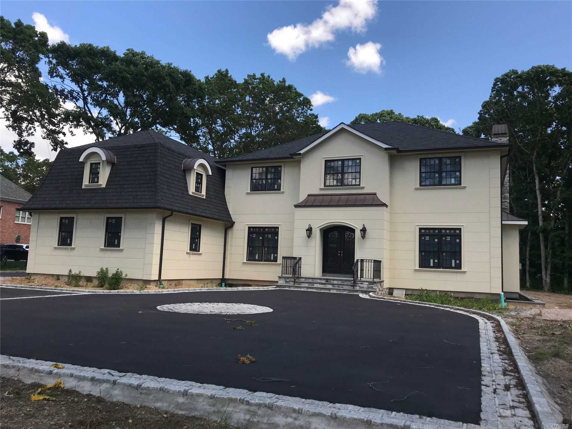 HIGH END NEW CONSTRUCTION**BEAUTIFUL FRENCH COLONIAL**TIME TO CUSTOMIZE! 1ST FLR 10' CLG, RAD HEAT, MARBLE FOYER, WIDE PLANK HW FL, CUST EIK HIGH END APPL, MUD RM, LDRY, ENSUITE GUEST BR WIC, FM W/CUST BAR & WOOD BURN FP, LR W/ FP, DR W/ COFFERED CIG. 2ND FL MSTR W/ENSUITE W/FP HIS&HERS WIC FINISHED BONUS RM, 3 ADDL ENSUITE BRs, WALK UP ATTIC***4 ZONE AC/ HEAT, OPEN STAIRCASE TO UNFINISHED 9' CLG BSMT W/ WO TO 720sf SUNKEN PAT, SMART WRD, 6, 100sf OF LUXURY AWAITS YOU!!!