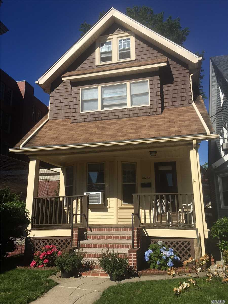 Mint hardwood floors, Updated Eat in Kitchen with Direct access to the yard. Lg Yard, Formal dining room with oak panels, stainglass windows, hardwood floors, Move in condition.