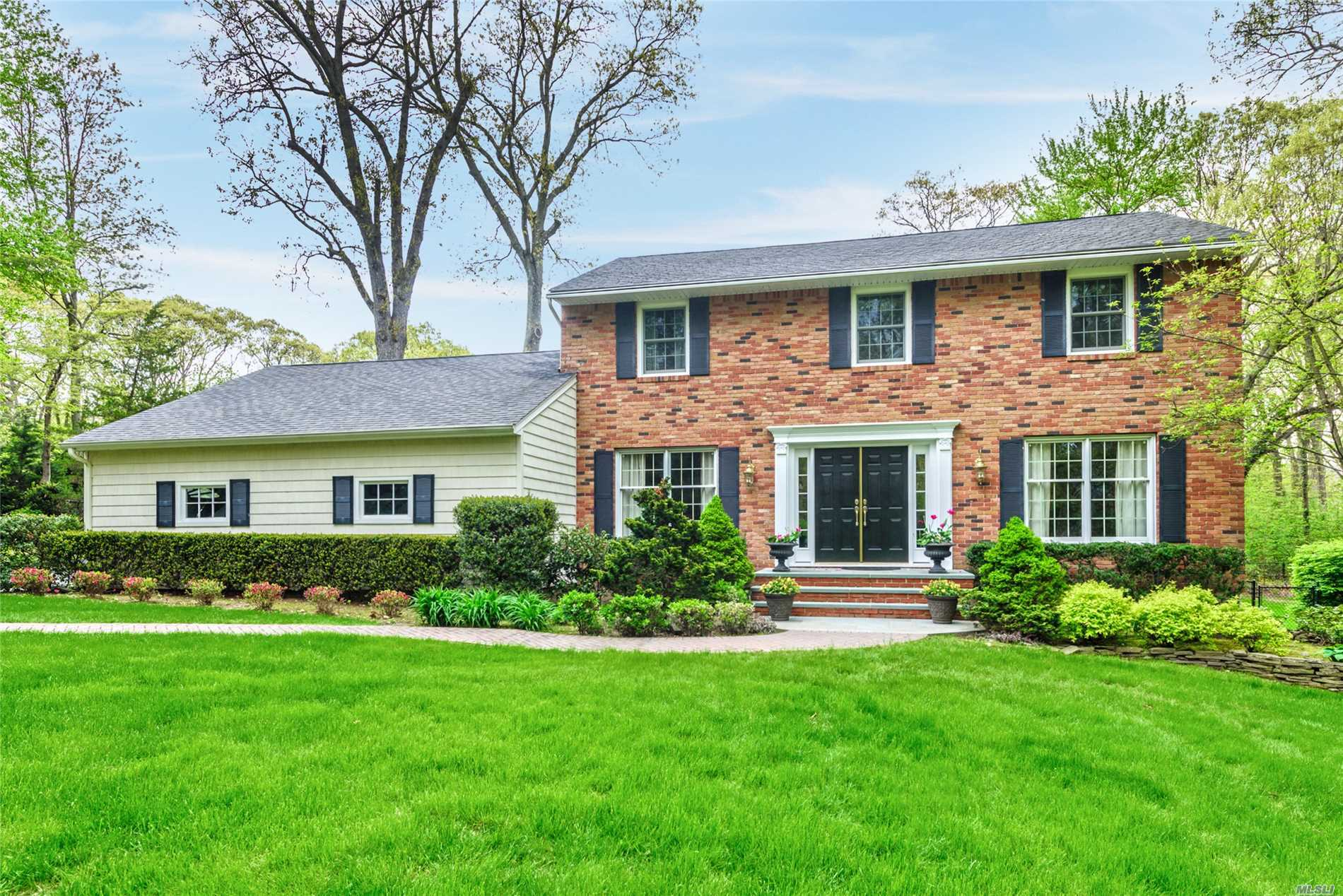Classic 4 Br 2.5 Bth Center Hall Colonial On Lushly Landscaped One Acre Property. Tastefully Decorated and Updated With Custom Details & Moldings Throughout. Large Formal Living Room With French Glass Doors. Inviting Family Room W/Fireplace. Beautiful Updated Eat In Kitchen & Breakfast Area. Formal Dining Rm W/Wainscoting. Main Fl Laundry Rm. Master Br W/Updated Bth. Stunning Entertaining Backyard W/Heated Saltwater In Ground Pool & Pavered Patio Areas. Gas Heat. Absolutely Diamond Condition!