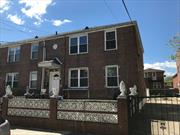 Brick 2 Family house in great Area, Good size of each 1 Bedroom Apt, Recently renovated high ceiling (8.2 feets) basement, Large back Yard with Garage separately. Perfect for investment with great pricing