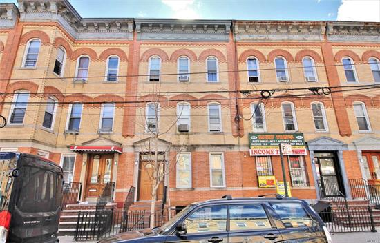 Here is an excellent opportunity to own an oversized (20ft wide by 60ft long) brick 3 family in Prime Ridgewood near Myrtle/Wyckoff Subway station and Seneca M Subway station. 1st Floor apartment is a large 2 bedroom that is currently occupied paying $1300/month with no lease. 2nd Floor is a large 3 bedroom that is currently occupied paying $1100/month with no lease. 3rd Floor apartment is a large 3 bedroom apartment that is occupied paying $2100/month with no lease. Being sold occupied.