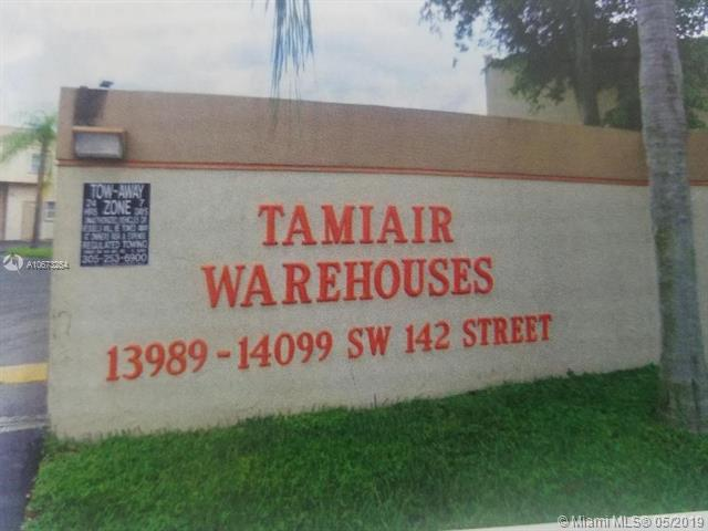 Warehouse Includes Office And Bathroom. Warehouse In Excellent Condition. This Is An Amazing, Two-Story, Warehouse/Office Condo Unit. A/C Warehouse. Near The Tamiami Airport And Less Than 2 Miles From The Turnpike.