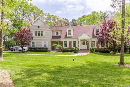 Completely Spotless Colonial on full acre w/Heat In Ground Pool 18x36! Home Features Entry Hall, Large Formal Living Rm w/Brick Frpl, Formal Dining Rm, Custom Built Eik Cabinets w/Corion Counters & Stainless Appl, Family Rm w/Vaulted Ceilings, Huge Master Bedroom w/Master Bath, 2nd Br w/Ensuite Bath, Full Mostly Fin Basement w/Bth. Home Also Features Wood Floors, CAC, 2 Car Gar, Timber Tec Deck & Roll out Awning.