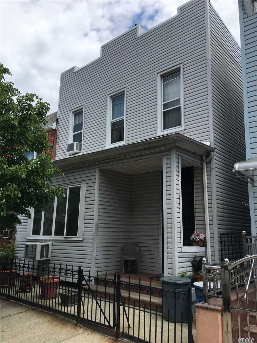 Astoria 2 Family semi det. 1st floor in good condition features 2 bedrooms, 1 Full Bath,  L/R & D/R. 2 ed floor needs TLC features 2 bedrooms, 1 Full Bath, L/R & D/R. Basement recently renovated in excellent condition. Rear access to large backyard.