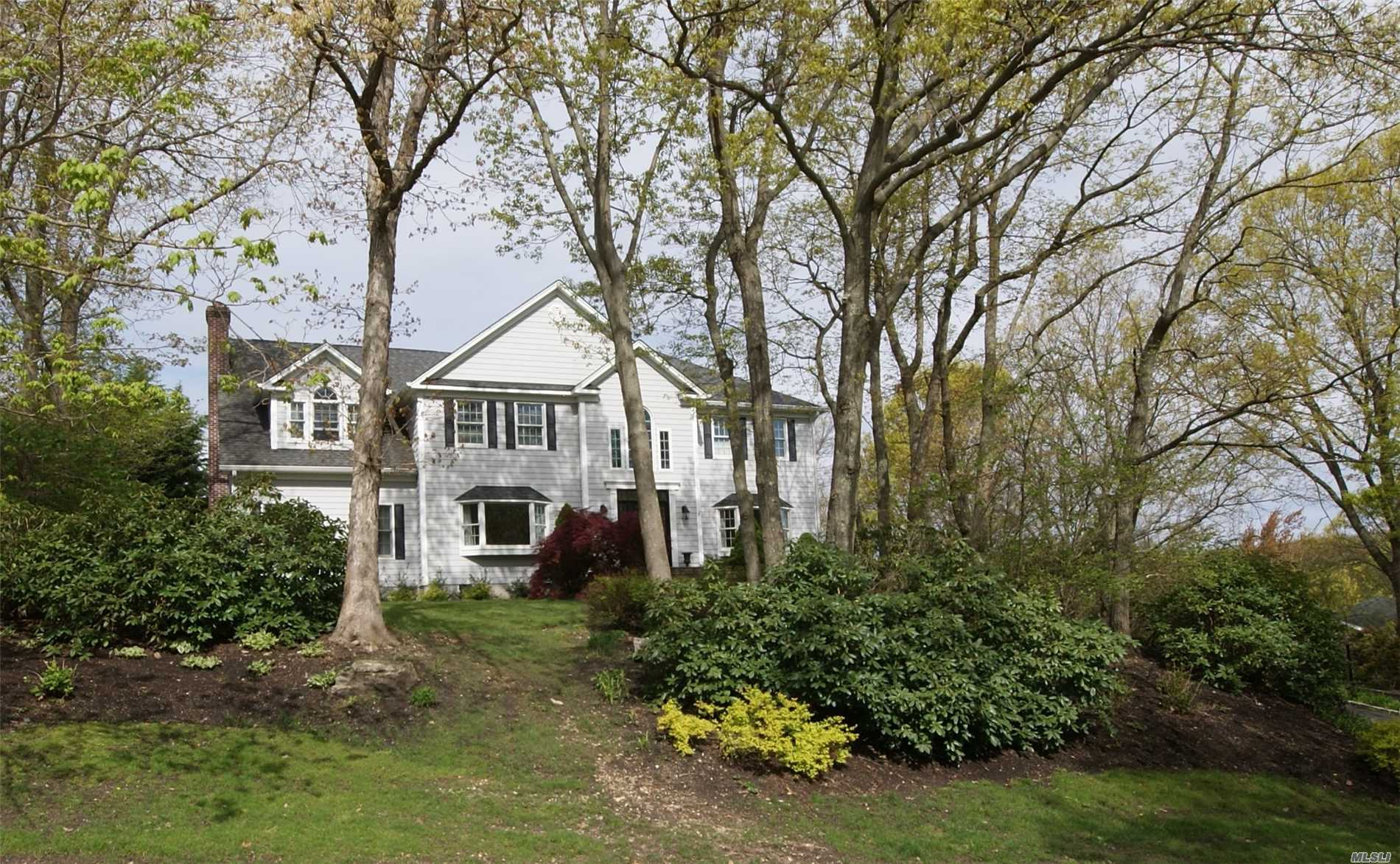 Beautiful Colonial Located In Harbor Hills. Dramatic 2 Story Foyer Featuring 9' Ceilings,  Living Room /Fpl, Formal Dining Room, Chefs Kitchen/Granite/Cherry Cabs/Stain Steel Appl/Butlers Pantry, Separate Office, Master Bedroom With Private En suite Bath With 4 Additional Bedrooms As Well As 2 Full Bathrooms. Full Finished Basement Complete With Great Rm/Gym/Playroom! Beautiful Yard With In Ground Salt Water Pool!! Village Taxes $2732.87 & Taxes W Star $13065.50