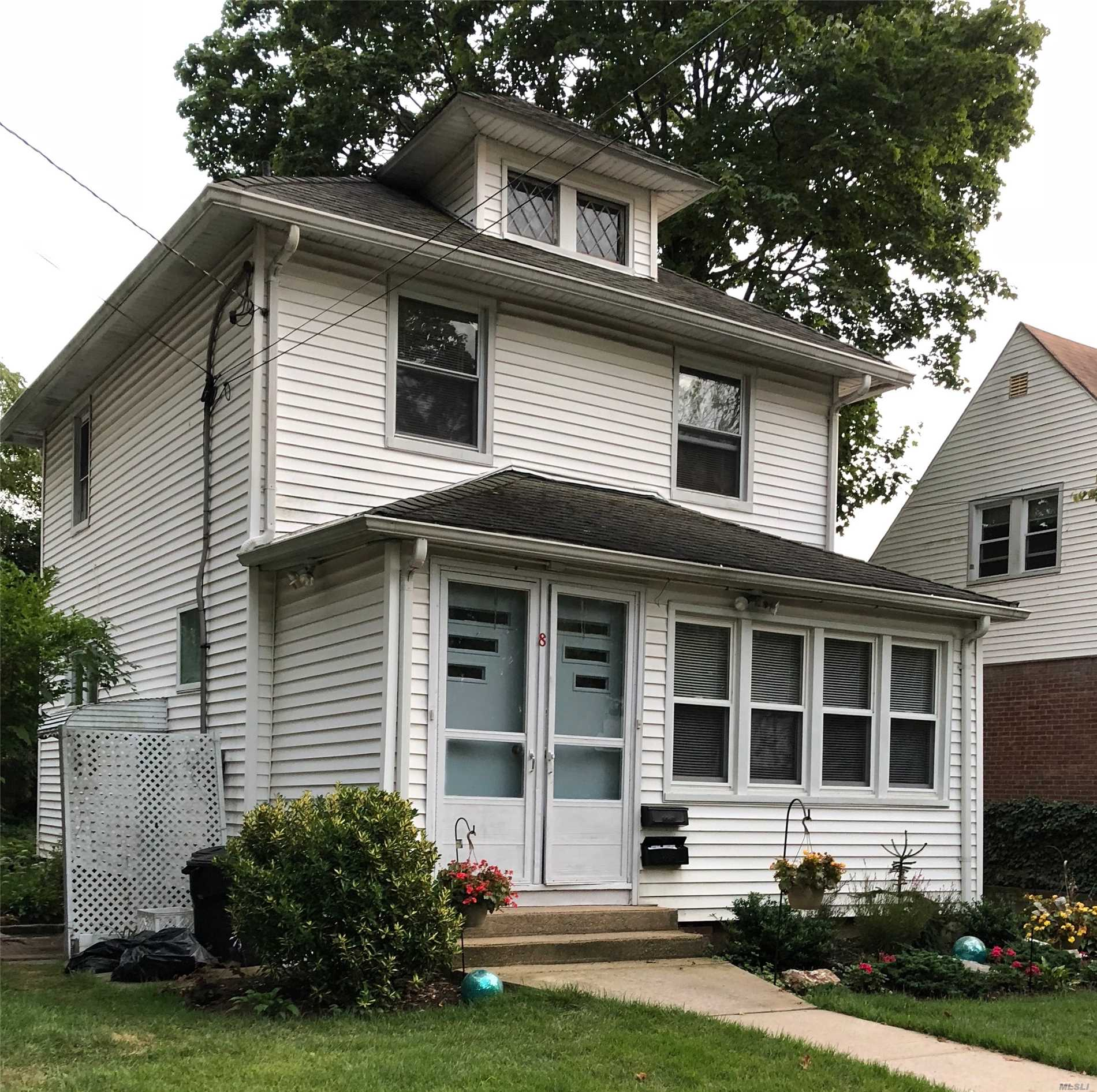 Fist Floor Apartment With One Bedroom And An Office/(Possible Second Small Br) Renovated Eat In Kitchen With New Appliances(Refrigerator, Stove, Dish Washer), Lr, Small Nook Off Kitchen, Full Bath W/ Shower, Basement With shared use Washer/Dryer, Back Yard Porch, Use Of Yard, Shared Garage/Driveway. Heat, Cook Gas,  Water Included.