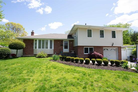 Large Knickerbocker! Updated Windows & Siding Roof, New Driveway, Updated Kitchen, Beautifully Finished Basement! Heated In-Ground Pool! All Situated On .25 Acre In The Melville Triangle, S. Huntington SD #13. Welcome Home! Pool Cover AS IS