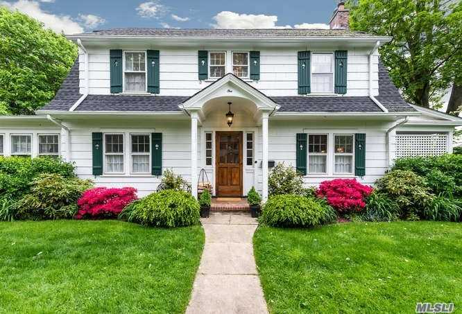 Beautiful Colonial w/covered porch features 3 BRS 2.5 BTHS, living room w/fpl, formal dining room, eat-in kitchen, family room & powder room on 1st floor. Upstairs offers MBR + 2 Addtl. Bedrooms and Full Bath. Convenient to town and train.