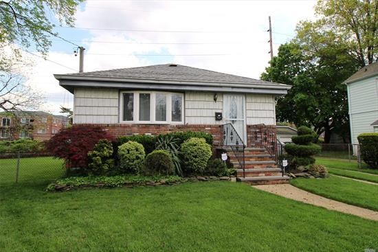 Enjoy one level living in this lovingly maintained 3BR ranch with a full finished basement with outside separate entrance. Property has in-ground sprinklers, LOW TAXES, and VALLEY STREAM #24 SCHOOLS! Close proximity to LIRR!