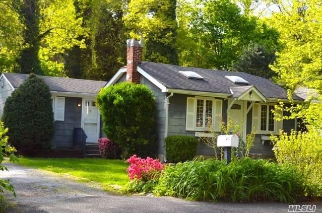 Welcome Home to this Sweet, Bright Home Nestled on Fenced Flat Property Bordering Wooded Hillside in Harborfields School District! Move in & Enjoy Living Rm w/ Fireplace and Built-Ins, Dining Rm w/ Soaring Ceiling and Bathroom w/ Jacuzzi tub & Steam Shower. Your Just Right Home in an Ideal Location Minutes from Villages, Train, Shops & Dining.