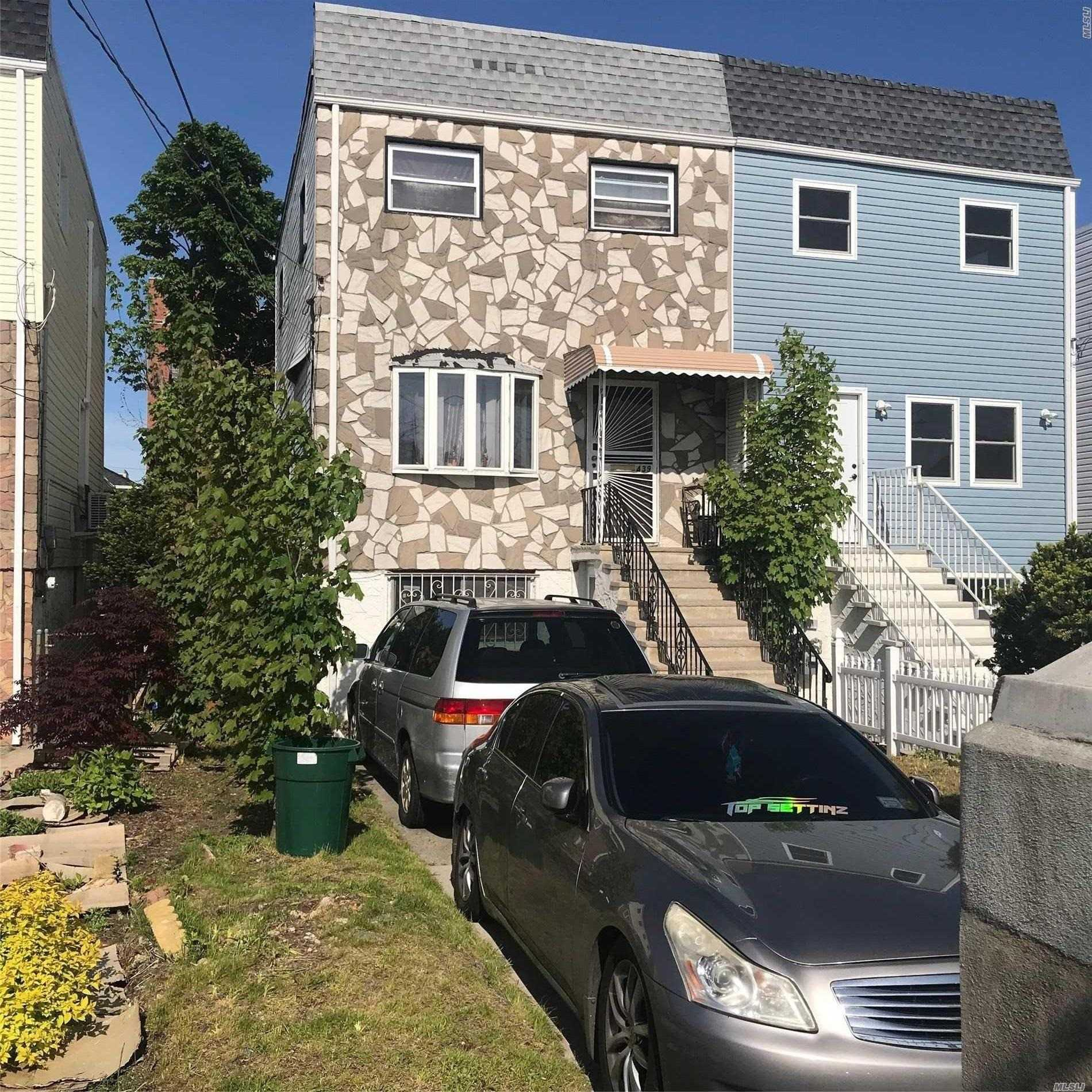 Spacious Colonial, Semi- Attached, 3 Bedroom, 2 Bath , Formal Dining, Living Room, Kitcken *** Basement With Separate Entrance*** and Close Transportation Shopping and School.