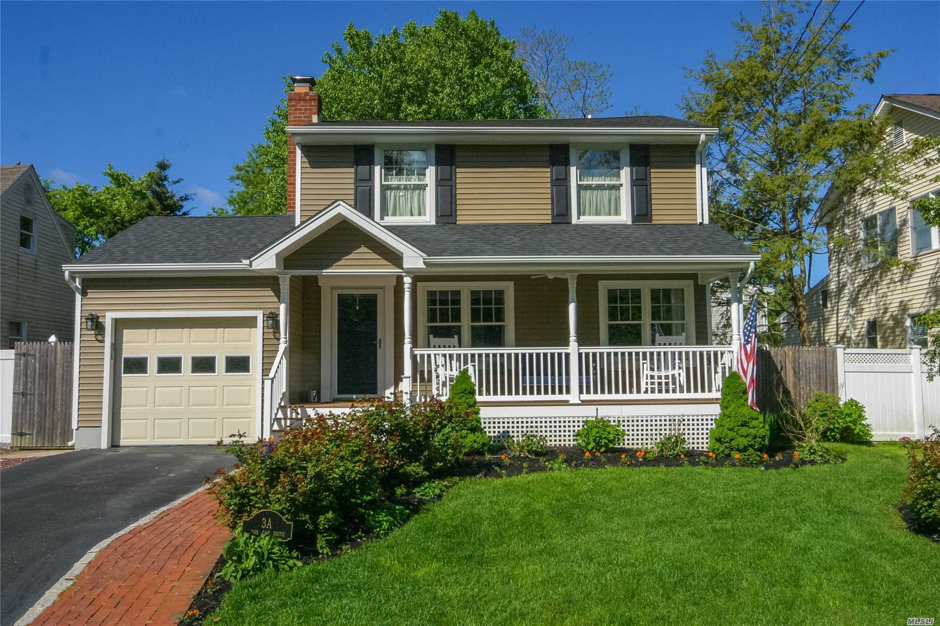 Stunning 3-BD, 2-BA Exp Colonial Renovated 2016! Open Floor Plan, Gleaming Wood Flrs, Andersens, Radiant Heating. Gorgeous Alder/Granite Kitchen w/Prof Grade SS Appliances, gas cooking, farm sink & Center Island. Pantry w/Barn doors. Living Rm w/Fpl. Beautiful Sunroom w/14' ceilings. Master Bdrm w/Palladium Windows & dual WIC. Luxurious Bth w/walk in shower. 2nd Fl Laundry. Updates galore Incl Siding, Roof, CAC, Gas Boiler/ HW tank, 200 Amp & more! Rocking Chair Front Porch. Fenced Yard w/patio.