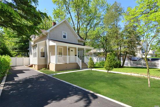 Beautifully Renovated 3 Br, 2 New Full Bath Colonial. Lr, Formal Dr, Huge Family Rm W/Sliding Doors Leading To a Fenced And Over Sized Backyard! New White Shaker Eik,  Stainless Steel Appliances & Granite Counter Tops! Full Bsmt! Gas Heat! New Long Driveway! Front Porch!