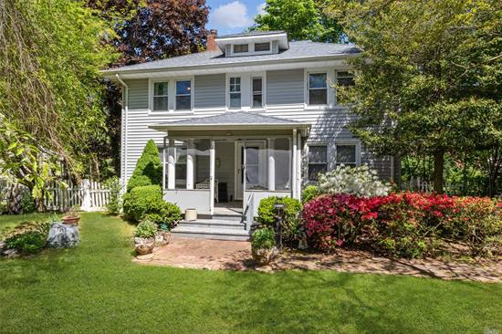 Looking for an excellent value with good bones? Well this is it, solidly built 1920 Colonial, 3Br, 2bath, FDR, LR with Fireplace, Kitchen full basement detached one car garage.